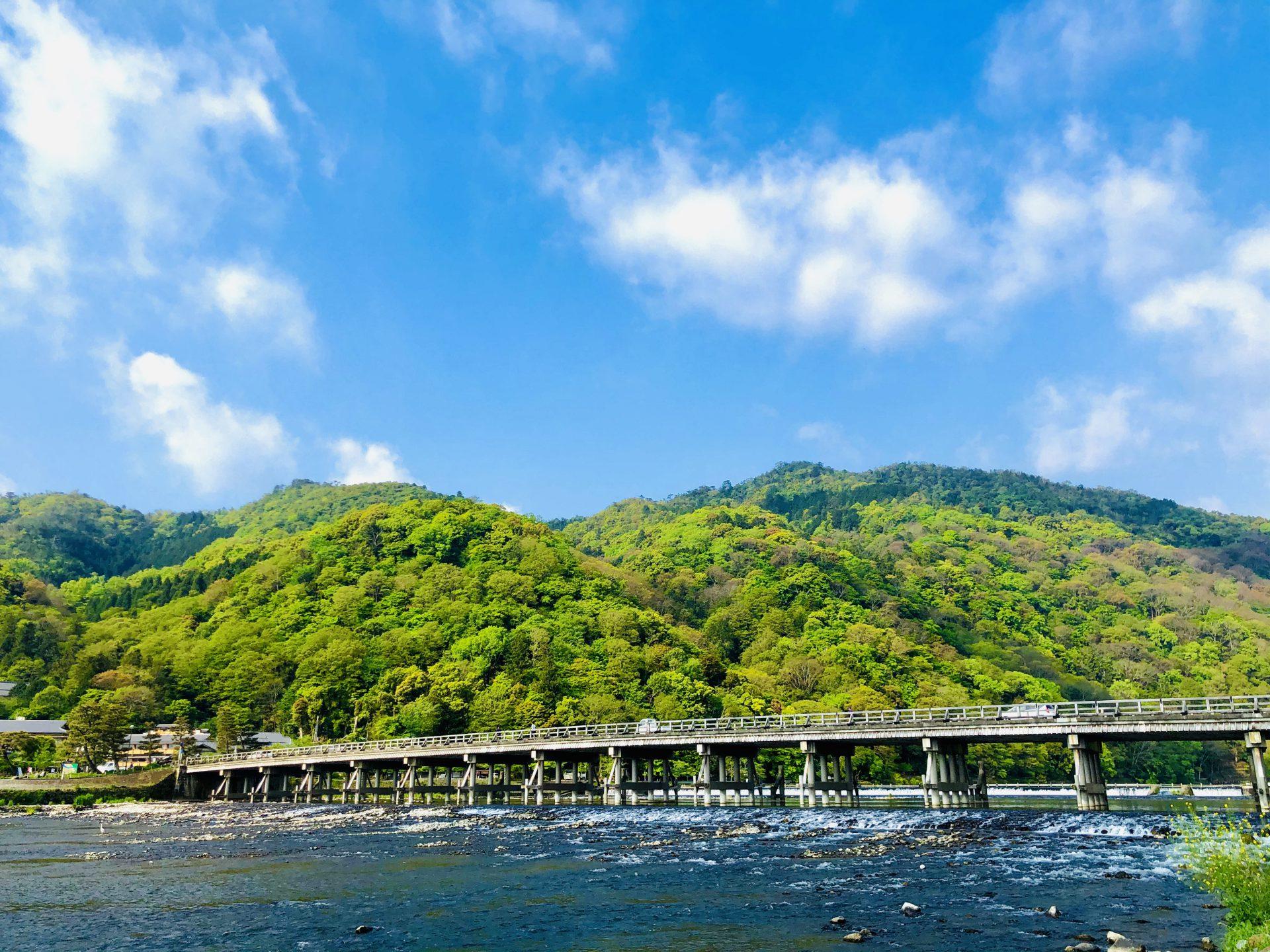『初夏』:新緑の嵐山